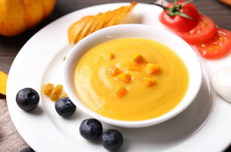 Crema fría de calabaza y naranja