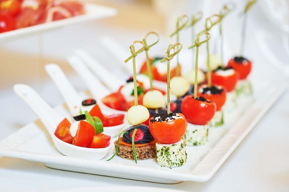 menú de boda vegano