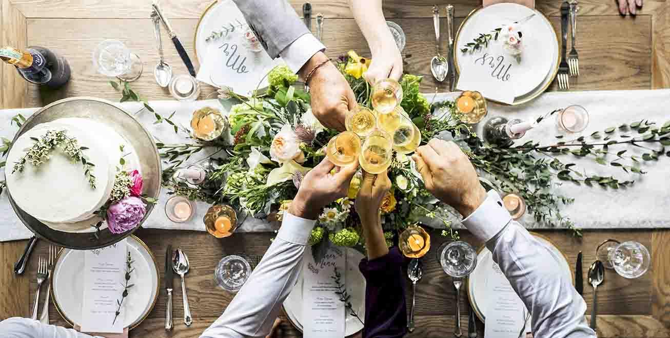 ideas para decorar las mesas de un banquete